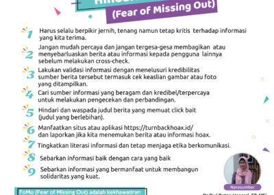 Tips Tangkal Hoax dan Hindari FoMo (Fear of Missing Out)