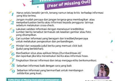 Tips Tangkal Hoax dan Hindari FoMo (Fear of Missing Out)
