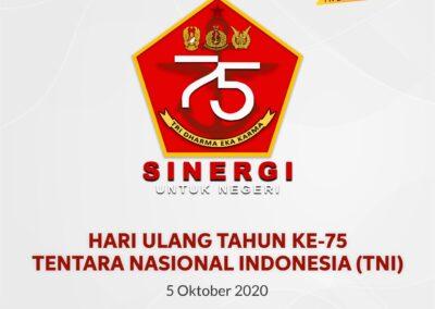 Selamat Hari Ulang Tahun Ke 75 TNI