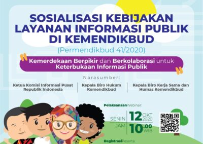 Sosialisasi Kebijakan Layanan Informasi Publik di Kemendikbud